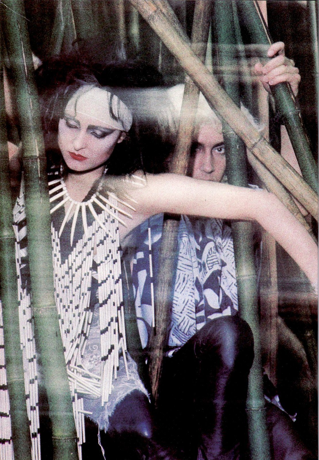 The Creatures: Siouxsie Sioux & Budgie in Hawaii, 1983.