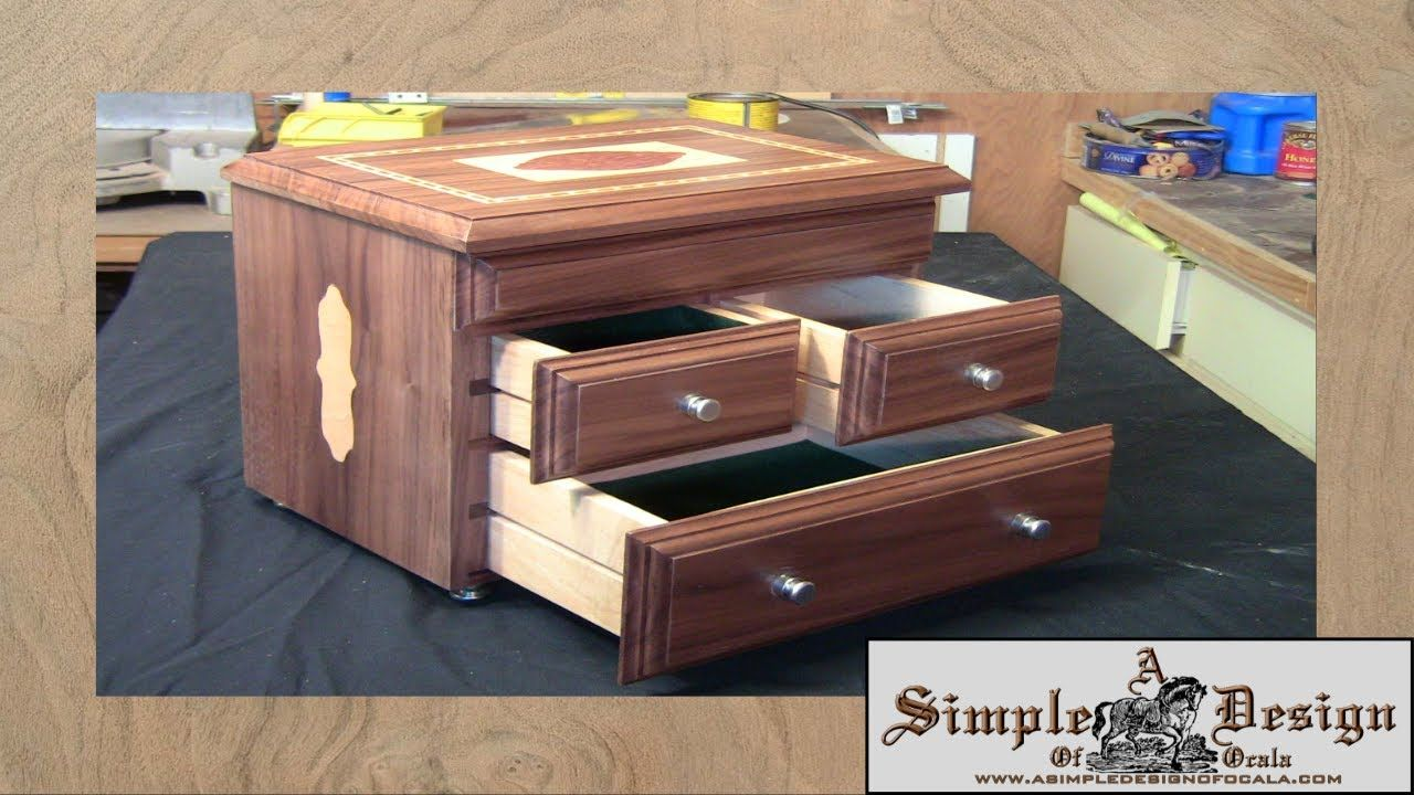 How To Make A Wooden Jewelry Box Glamorous Making An Inlay Jewelry Box Part 2Laney Shaughnessy Youtube Decorating Inspiration