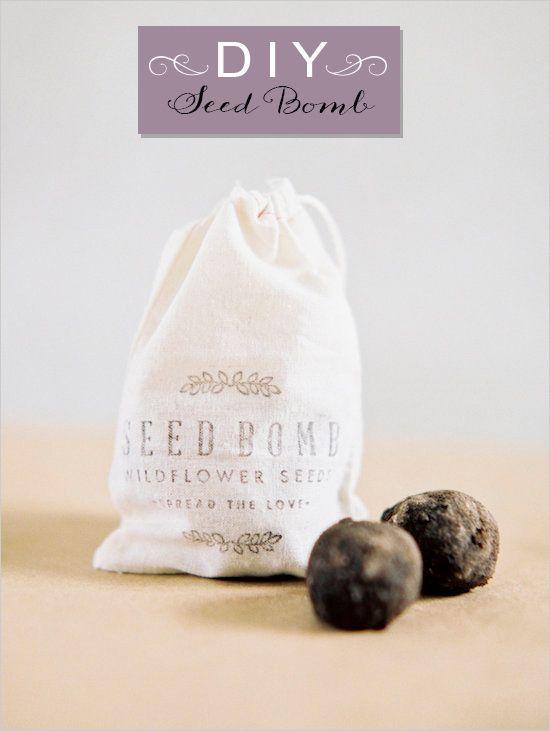 DIY seed bomb wedding favor #diy #weddingfavor #weddingchicks http://www.weddingchicks.com/2014/04/09/diy-seed-bomb-wedding-favor/