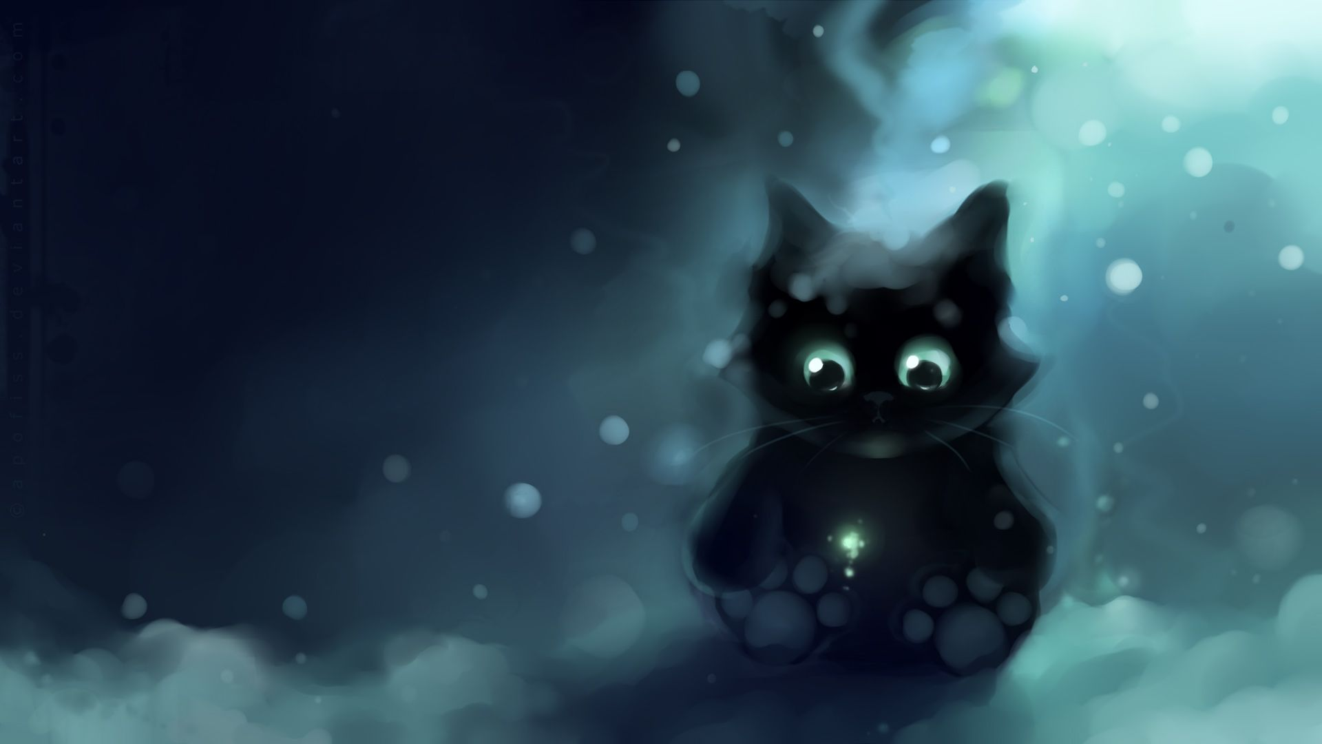 Apofiss Animals Images Black Kitty 2 Hd Wallpaper And Background Photos Cute Anime Cat Cheshire Cat Wallpaper Cat Art
