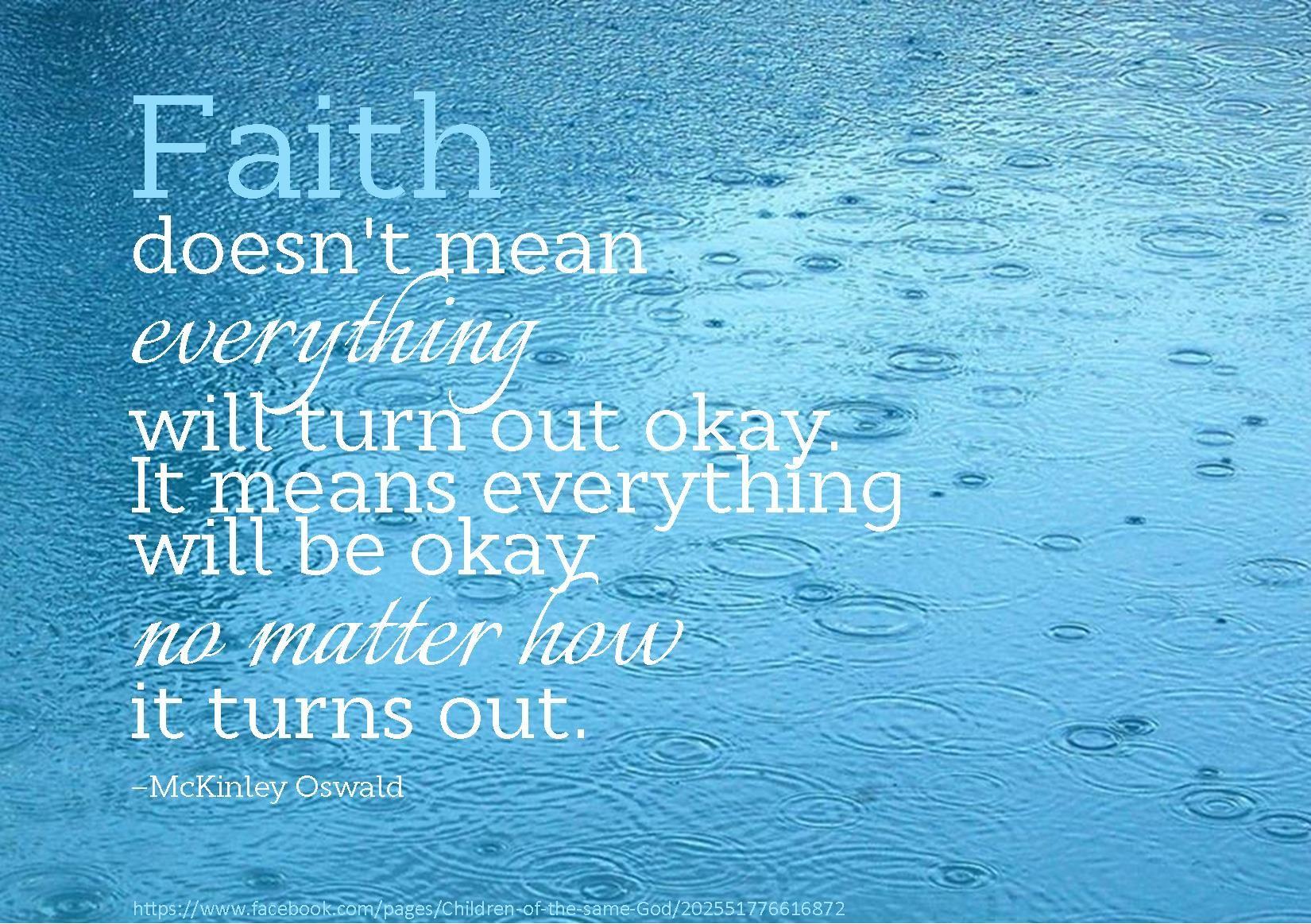 faith means trust trust - HD1650×1163