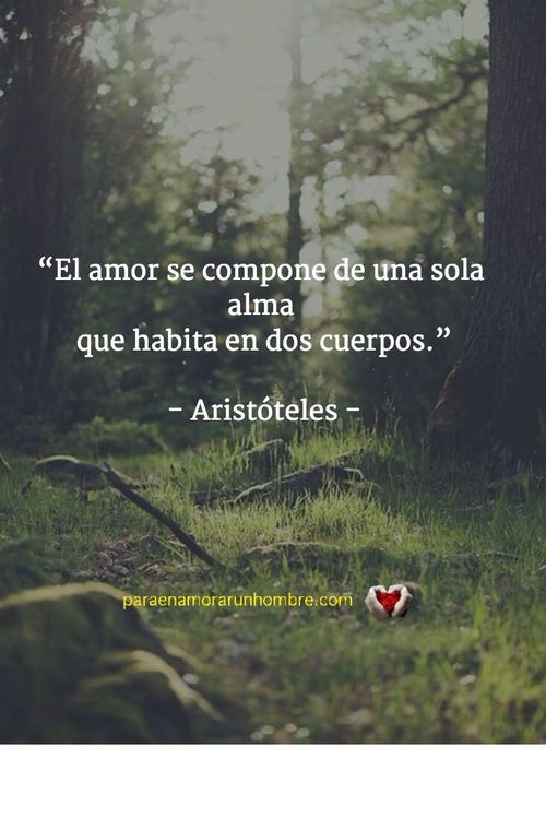 Imagen De Amor Aristoteles And Frases En Espanol Love Words Inspirational Quotes Love Phrases