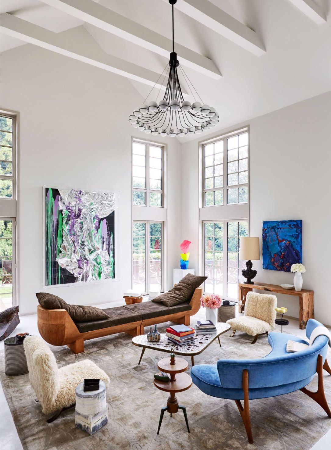 ... RETREAT: At The Hamptoms Getaway Of Powerhouse Gallery Owner Dominque  Levy And Movie Producer Dorothy Berwin The Architecture The Furniture And  Even The ...