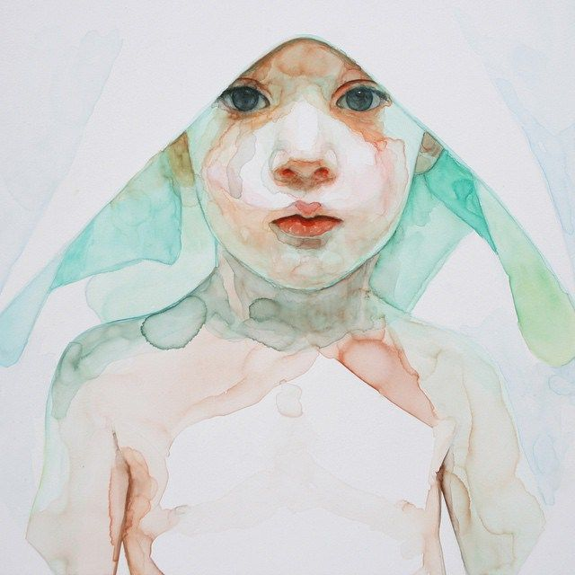 The one of a kind watercolors of Ali Cavanaugh are modern