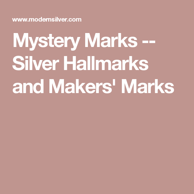Sterling Silver Jewelry Marks