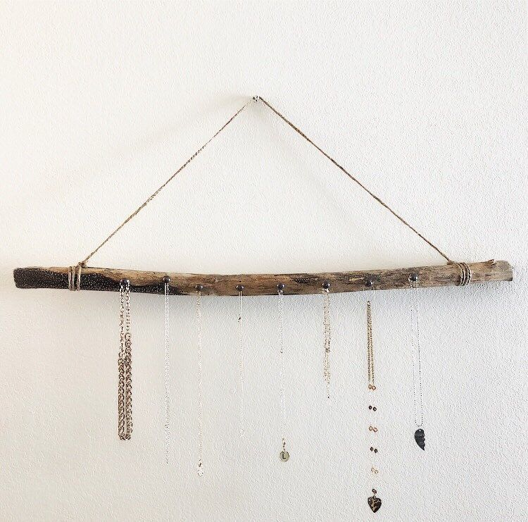Driftwood Jewelry Hanger  wood necklace holder  drift wood wall hanger  necklace organizer Driftwood Jewelry Hanger  wood necklace holder  drift wood wall hanger  necklac...