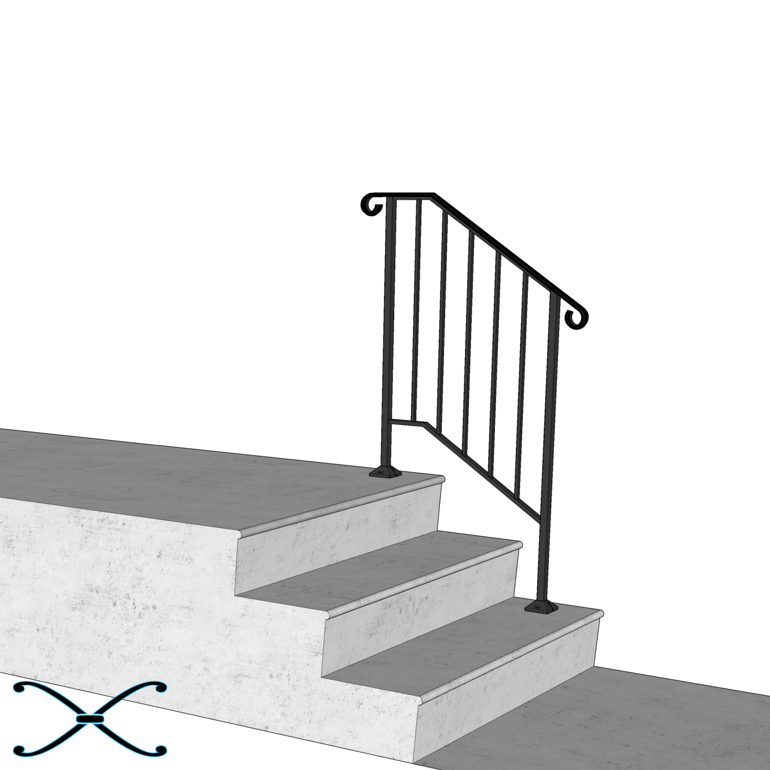 DIY Handrail   Strongest Most Reliable Do It Yourself Handrail ...