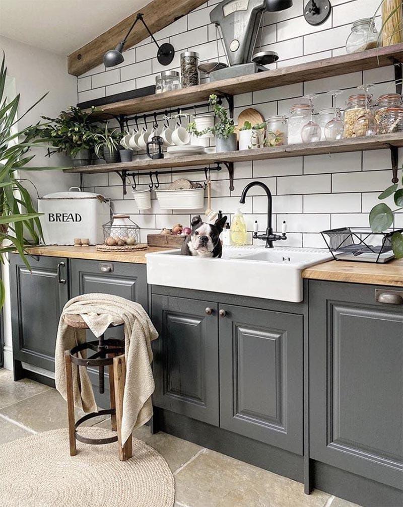 22 Beautiful Black Kitchens That Are Trending Hot The Cottage Market Kitchen Renovation Kitchen Design New Kitchen Cabinets