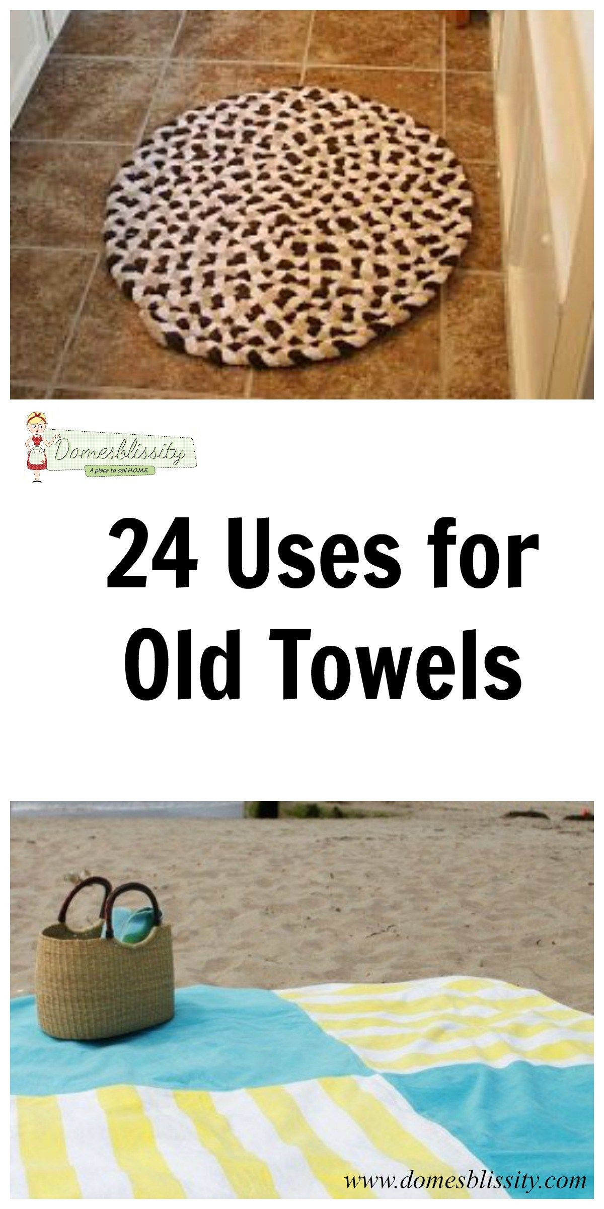 24 Uses For Old Towels With Images Old Towels Recycled Towels