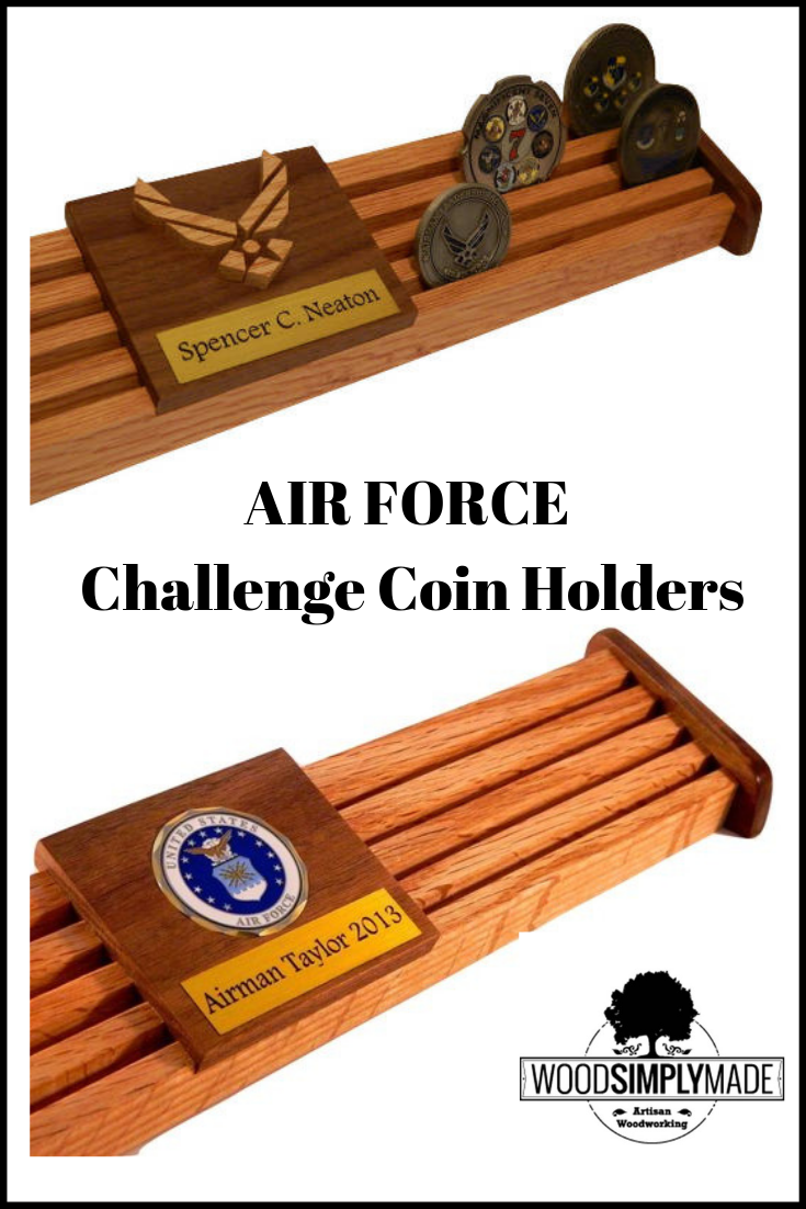 24 Challenge Coin Display, Air Force Military Coin Holder