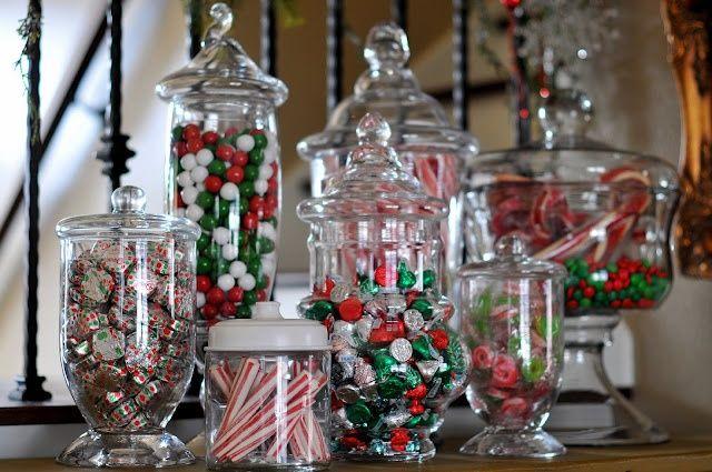 Frascos de boticario o ánforas para mesas dulces este 24 y 31 de - christmas decor pinterest