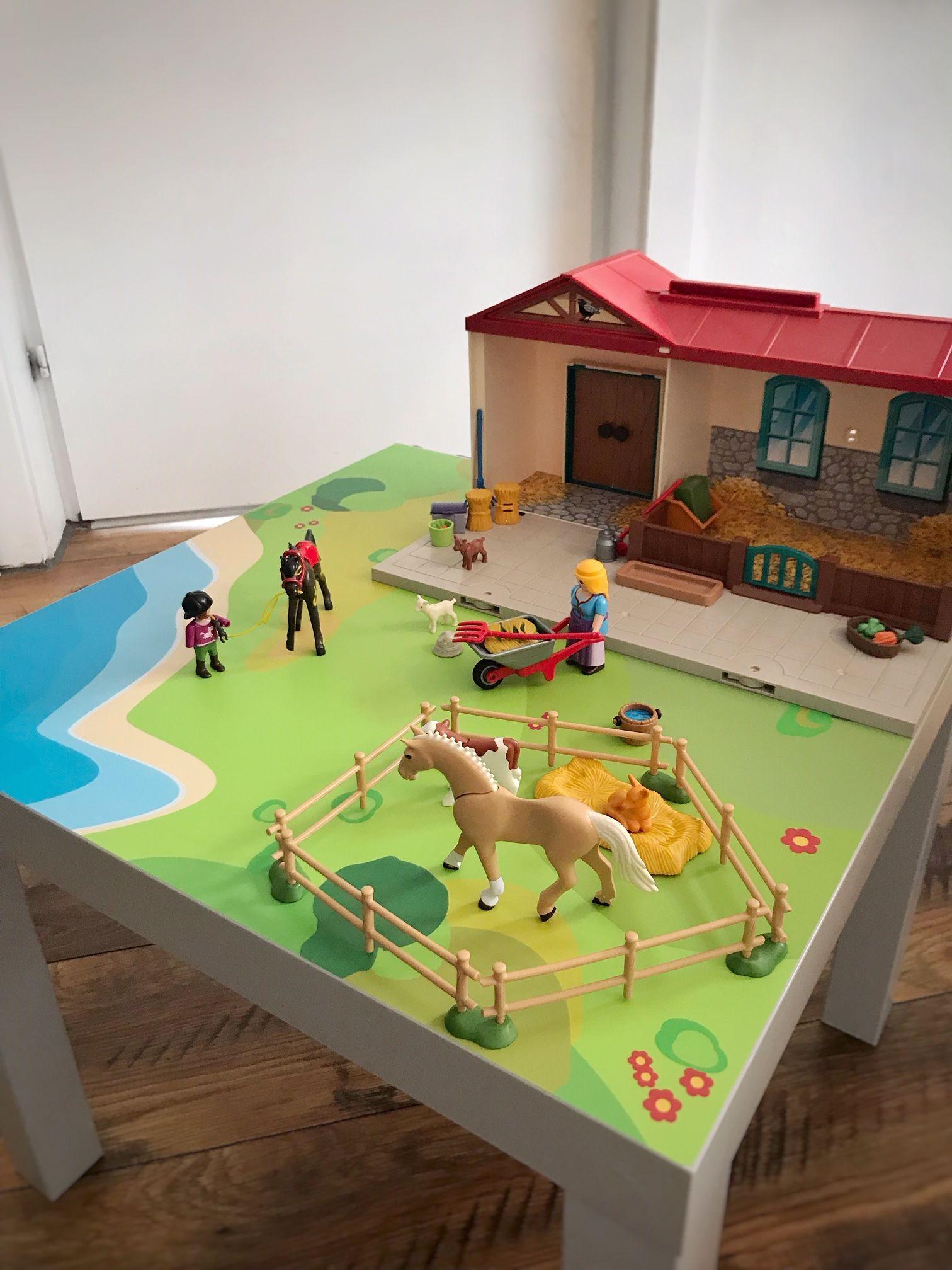 Photo of Convierta las mesas IKEA en mesas de juego para niños.