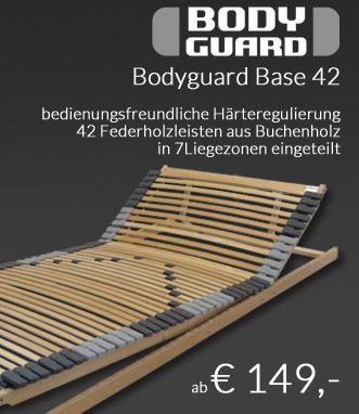 Bodyguard Base 42 Kf Lattenrost Unterfederung Mit Beweglichem Kopf Und Fussteil Lattenrost Buchenholz Matratze