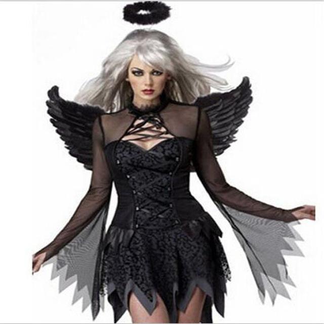 Photo of Angel Ghost Bride Cosplay – Black / M