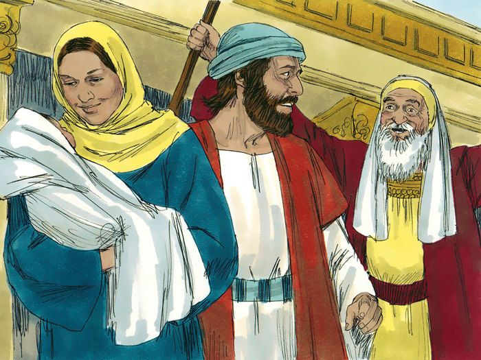simeon and anna meet jesus cartoon