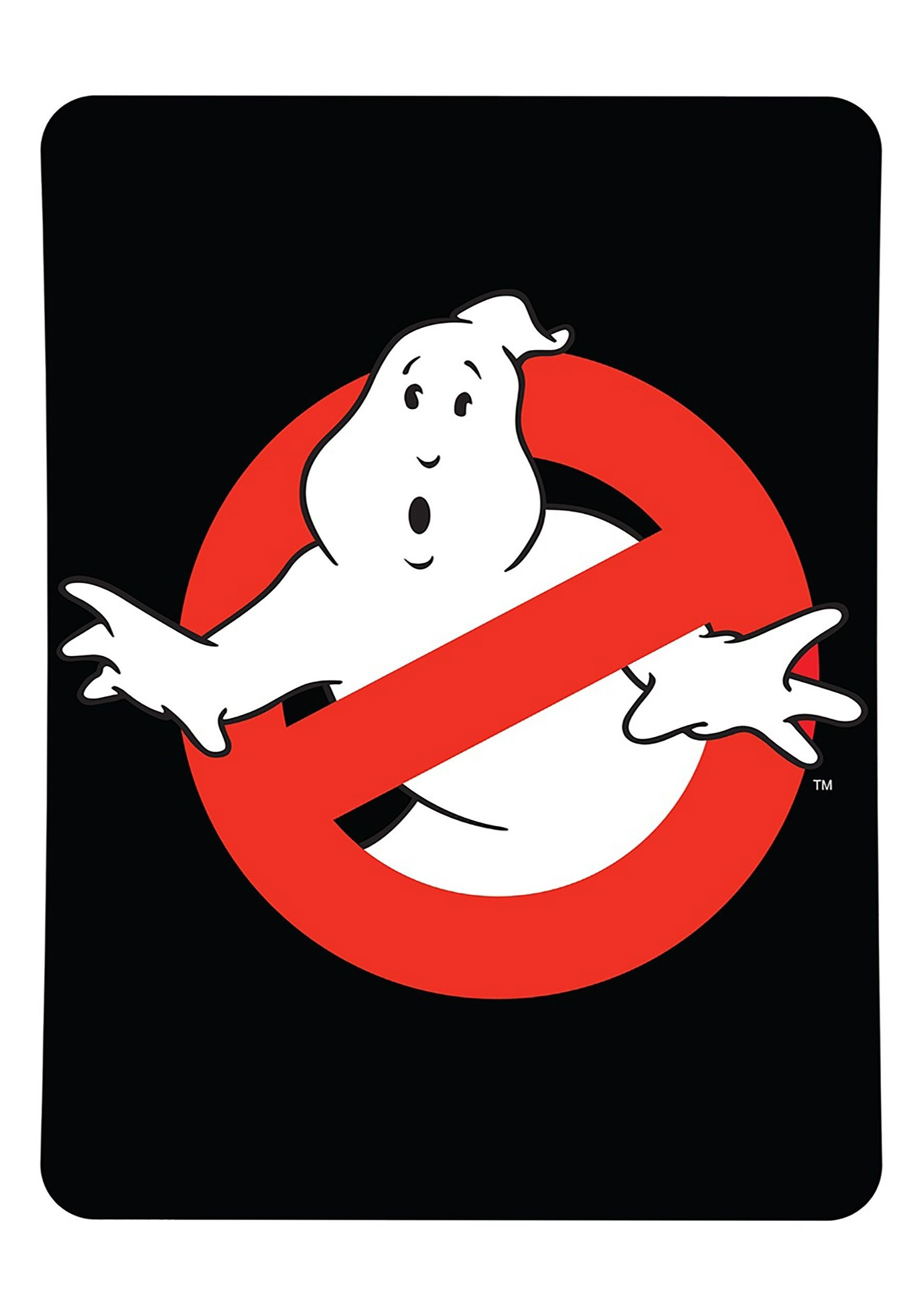 Ghostbusters logo keep warm logan fleece throw home kitchens game room