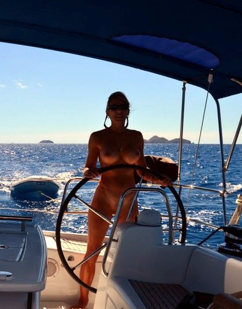 Caribean nude boating