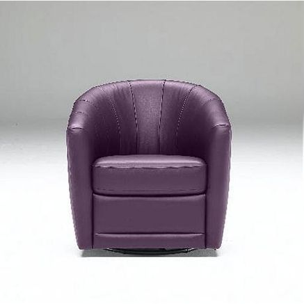 Natuzzi Editions Tre Leather Swivel Chair For The Home Swivel