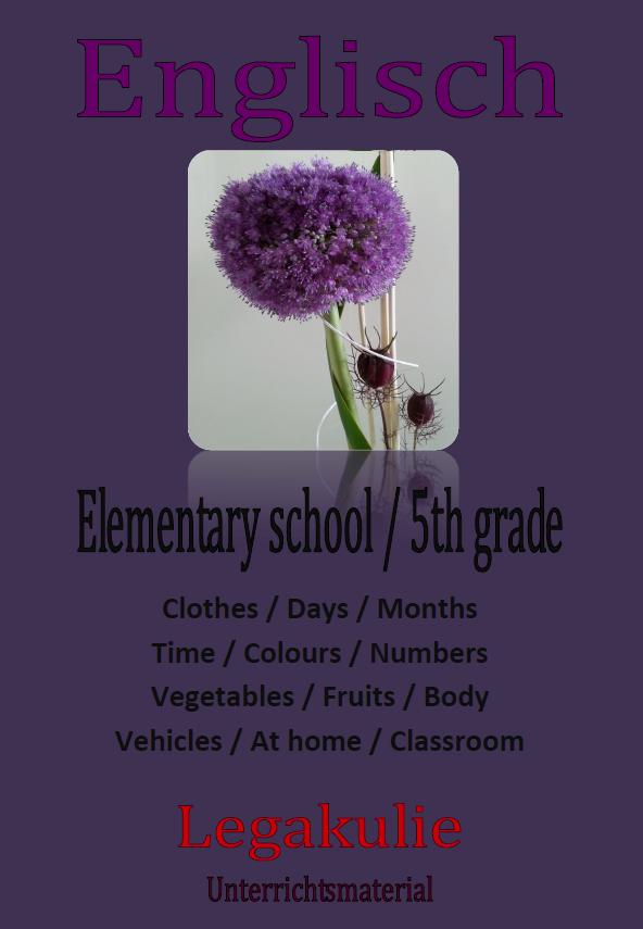 Elementary school / 5th grade | 5.Klasse Englisch Arbeitsblatt ...