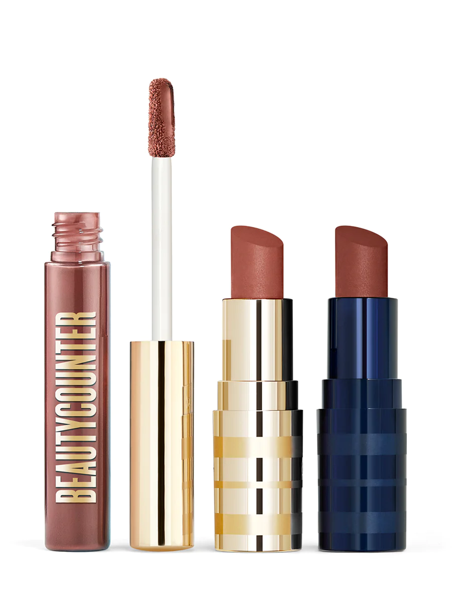 Rosewood Lip Trio Beautycounter Lipstick, Intense lipstick