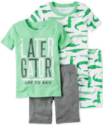 6871b6fb75ce Carter s 4-Pc. Later Gator Cotton Pajama Set