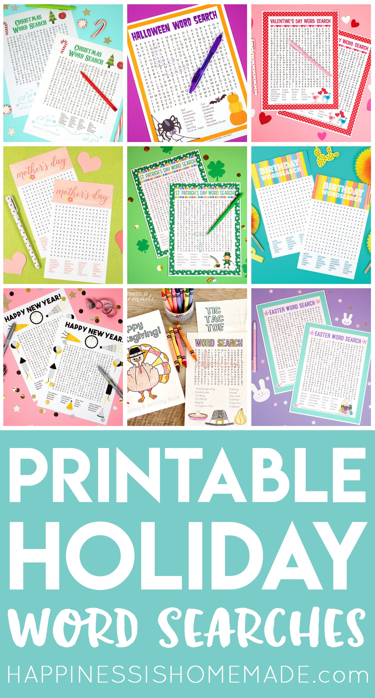 Printable Word Searches For Every Holiday And Occasion