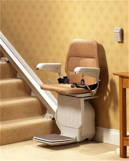 The Stannah 400 And The 420 Straight Stairlift Is A Compact Chairlift For A Straight Stairca Oversized Chair And Ottoman Lounge Chairs Living Room Used Chairs