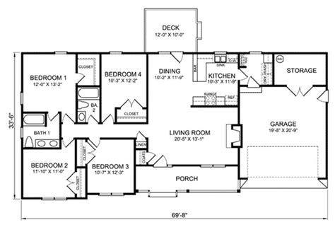 image result for open concept 1 floor 4 bedroom floor