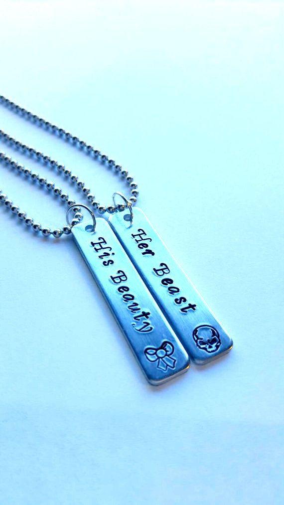 couples necklace set his