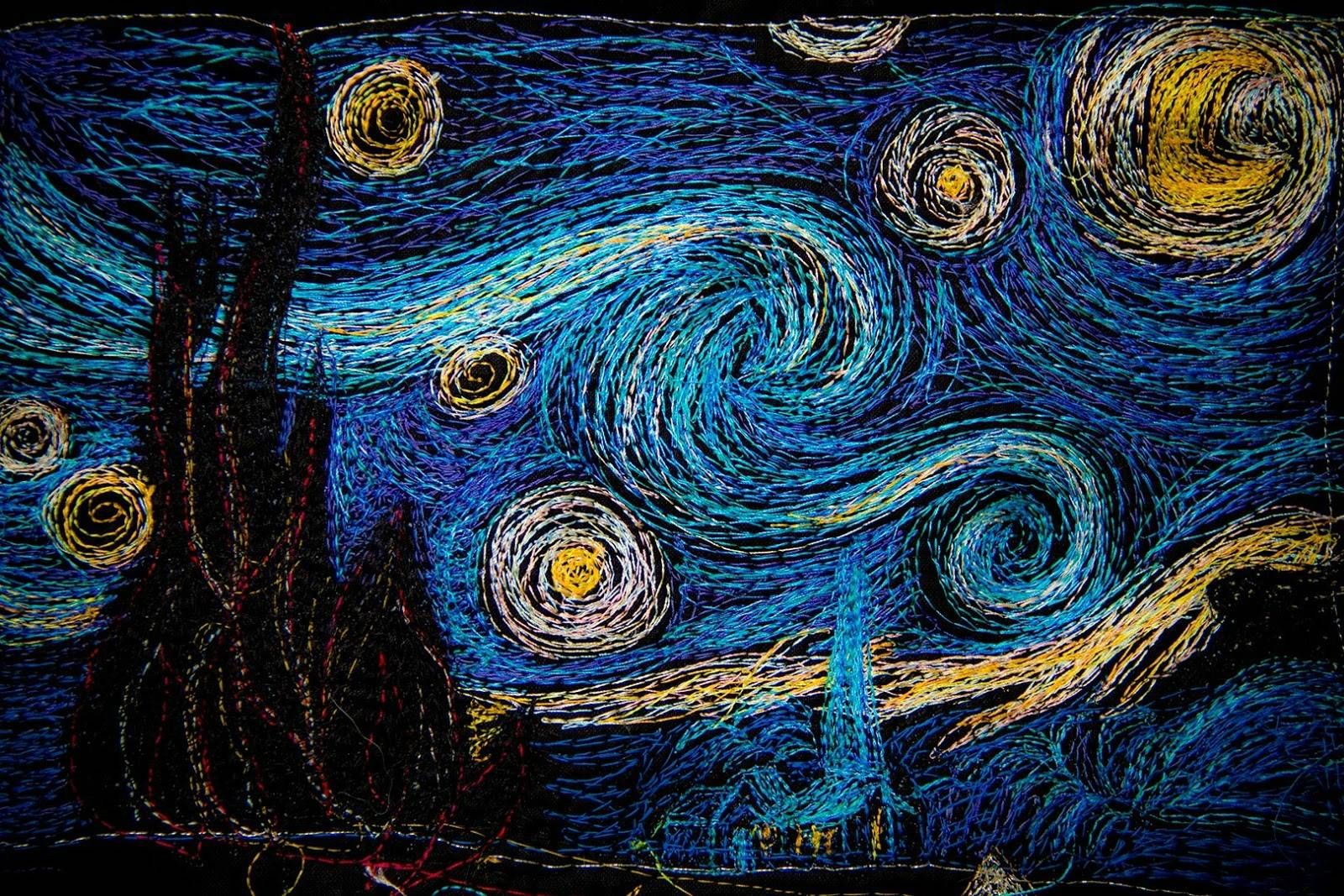 starry night quilt - Google Search (With images) | Starry ...