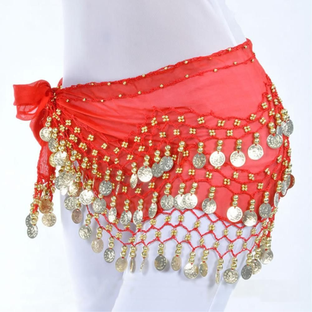 Fashion Rows Gold Coin Belly Dance Costume Hip Scarf Skirt Belt Dance Wrap KID/'s