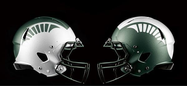 College Football Uniform Concepts Michigan State College Football Helmets Football Helmets Michigan State Football