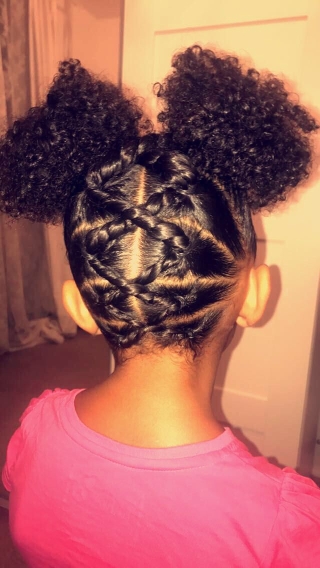 little girls hair.mixed hair.school