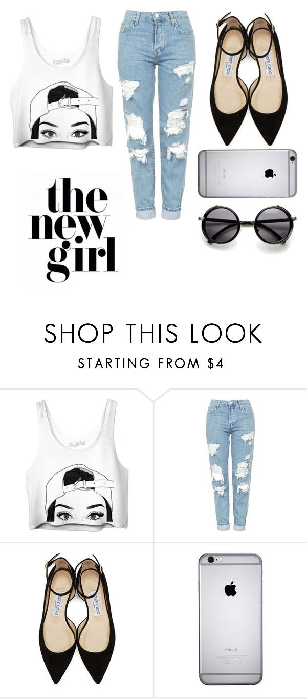 """oh,not again."" by weirdchild-saki on Polyvore featuring Topshop and Jimmy Choo"