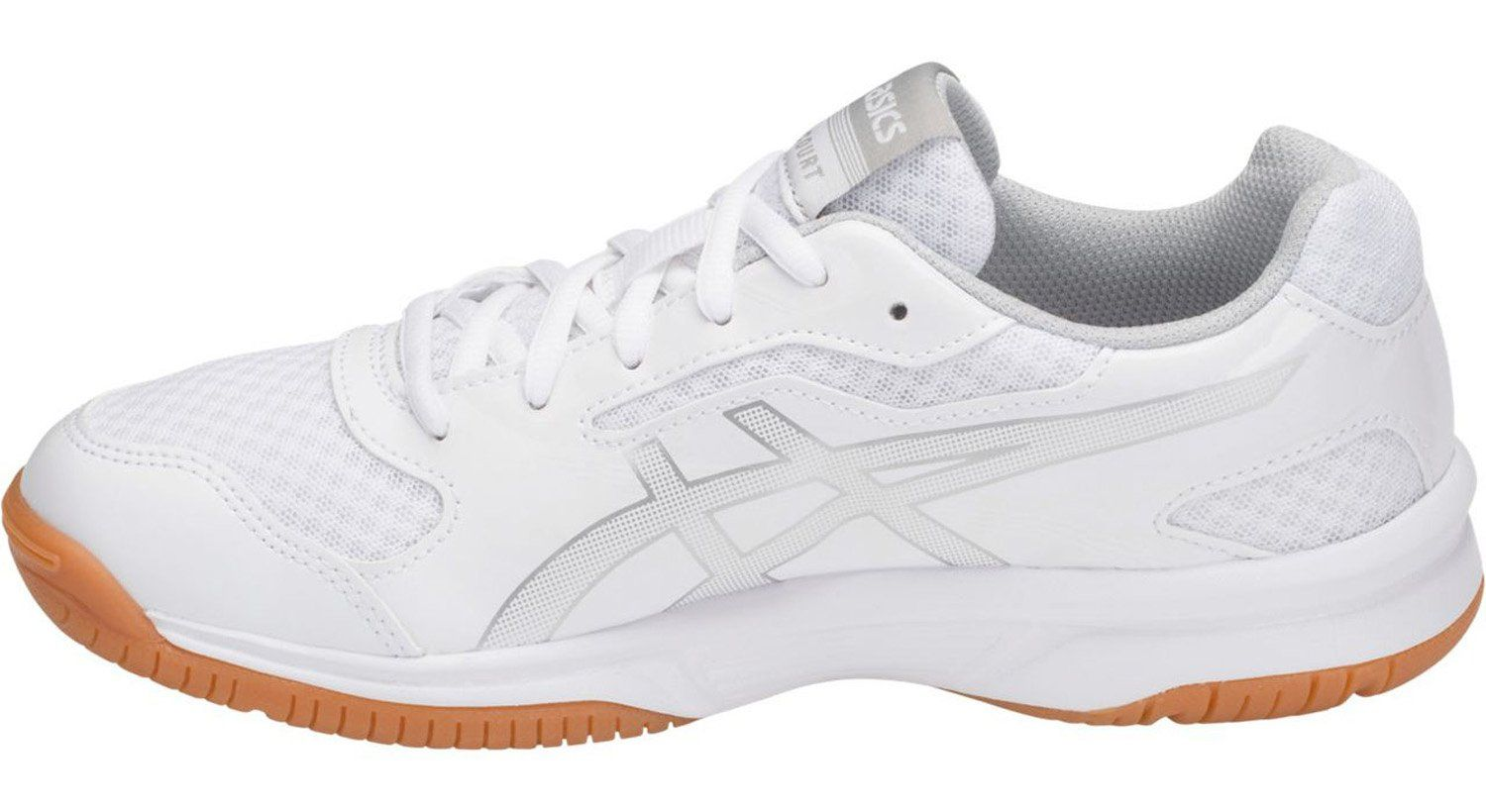 Asics B755y Womens Upcourt 2 Running Shoe White Silver 8 5 B M Us You Can Find Out More Details At The Link Of The Image Volleyball Shoes Asics Asics Women
