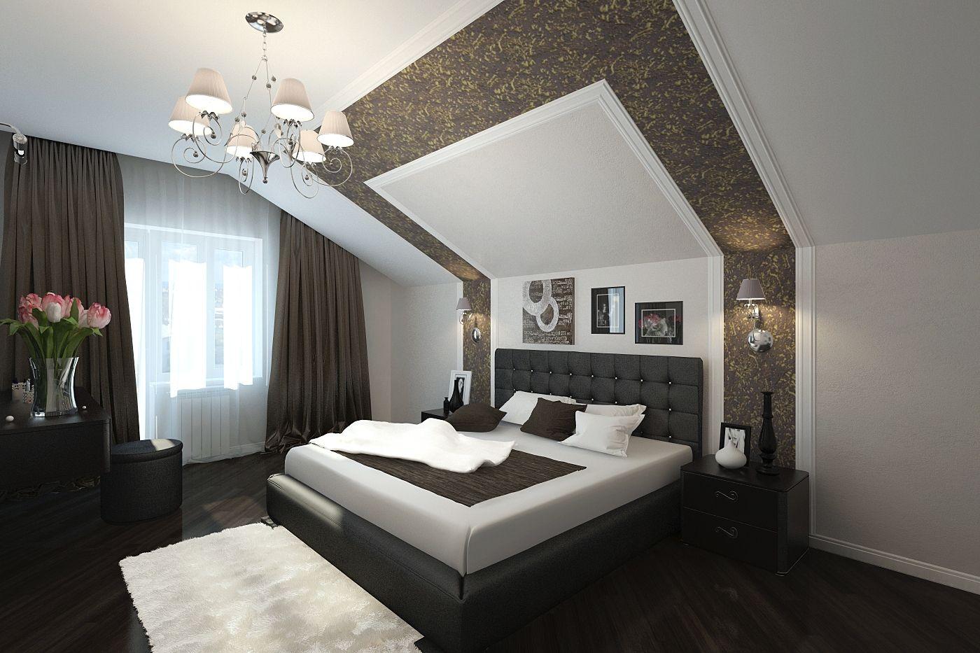 Спальня мансарда дизайн   лофт в 2019 г.   Спальня ...