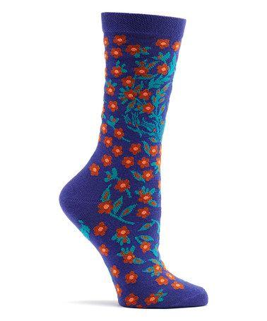 Another great find on #zulily! Violet Turkish Flower Socks #zulilyfinds