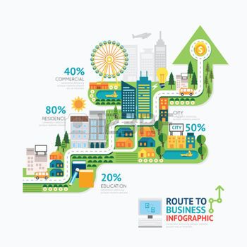 City Stock Vector Illustration And Royalty Free City Clipart Business Infographic Creative Infographic Free Infographic Templates