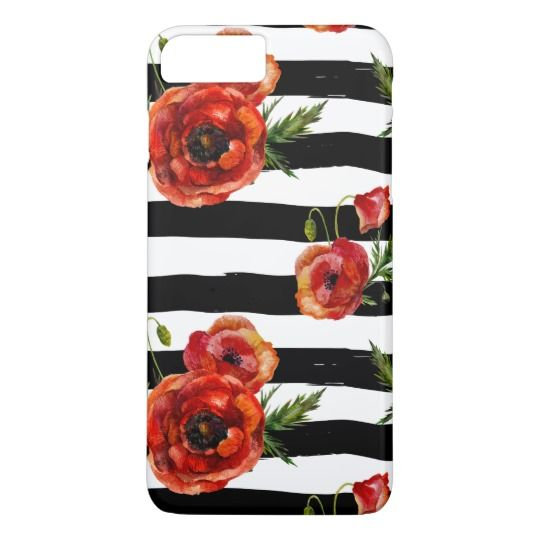 Pretty Red Poppy Flowers iPhone 7 Plus Cases. #iphone7cases https://www.zazzle.com/z/3yhdn