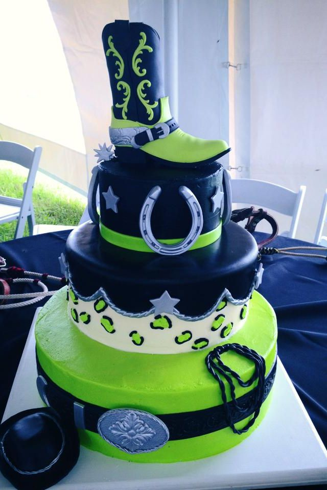 Sweet 15th Western Theme Cake Heck I Know An Almost 11