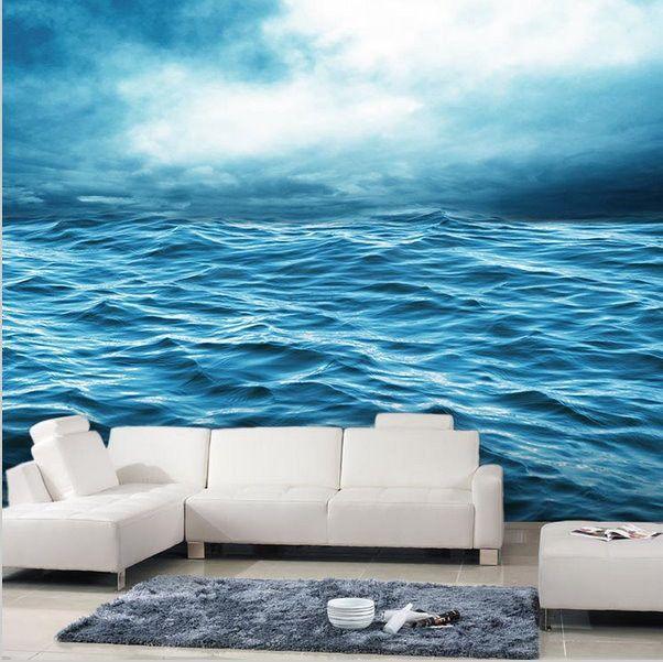 3d Sea Waves Ocean Wallpaper For Walls Wall Art Ocean Wallpaper Ocean Mural Wall Wallpaper