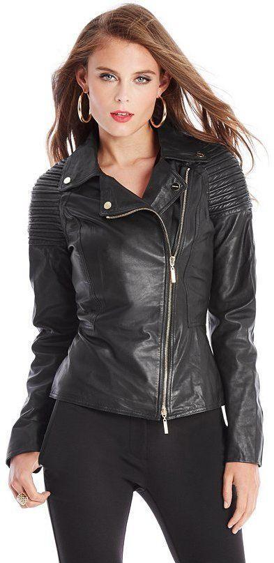 $378, GUESS by Marciano Myra Leather Moto Jacket