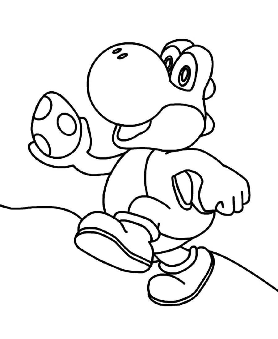 Yoshi Coloring Pages Cute  Coloring pages, Wwe coloring pages