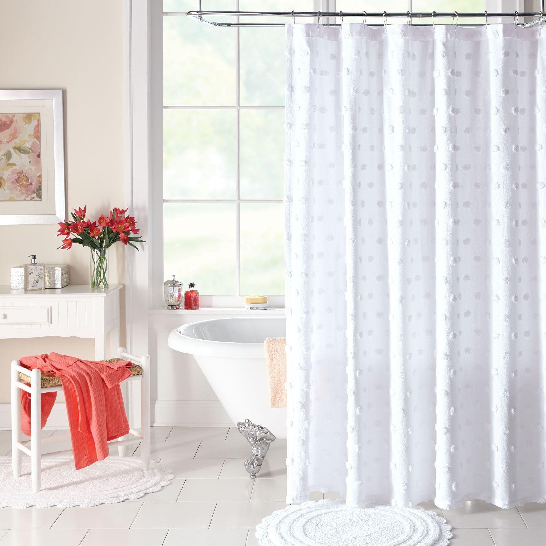 Georgia Chenille Shower Curtain Plus Size Bath Accessories