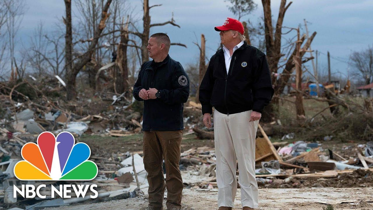 ''This Is Real Devastation' Trump Tours Tornado Damage In