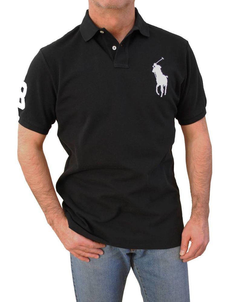 161b01d16686 Polo Ralph Lauren Men`s Big-Tall Custom Fit Short Sleeve Big Pony Polo  Shirts