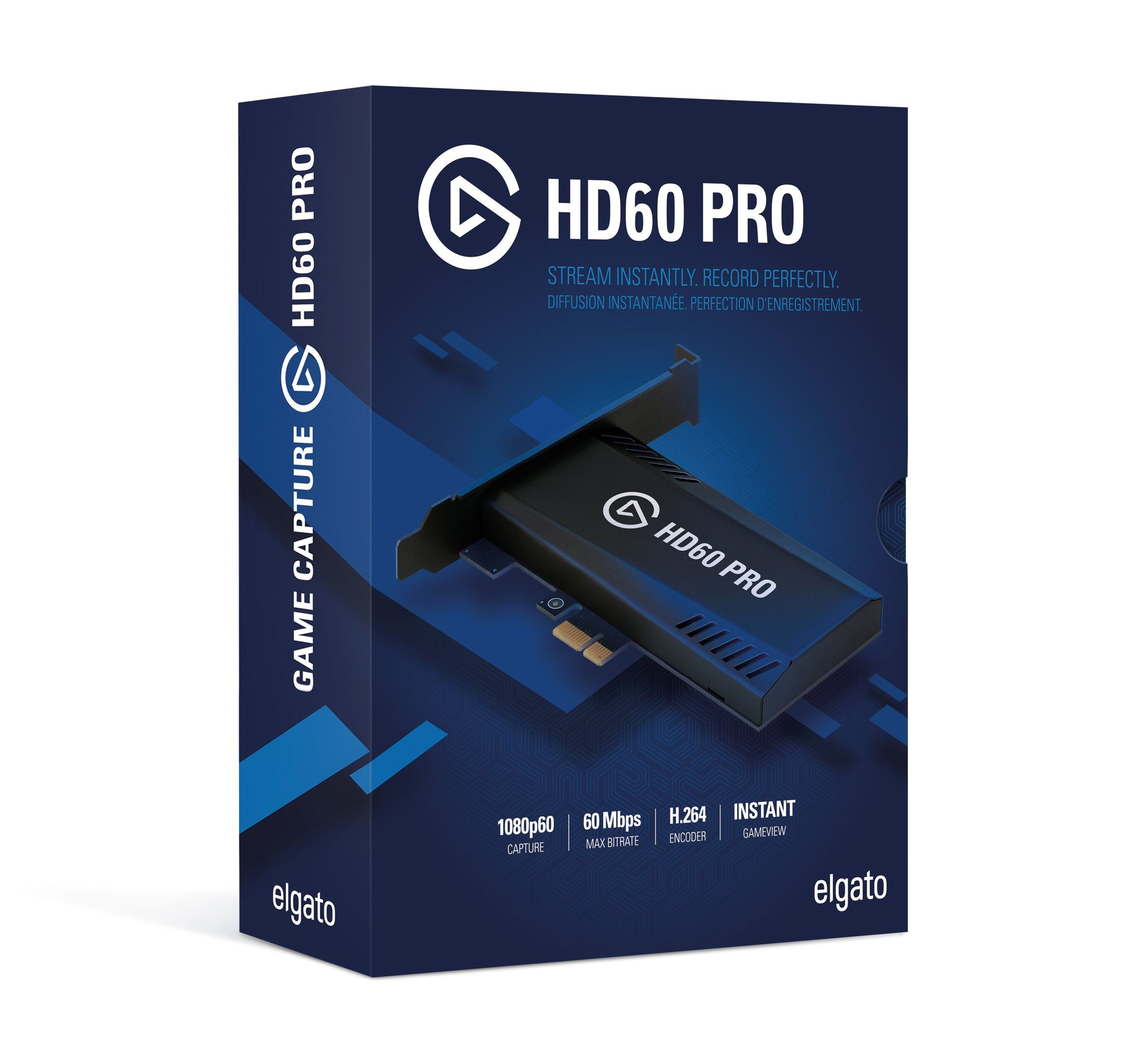 Stream and record in 1080p60 superior low lat... Elgato Game Capture HD60 Pro