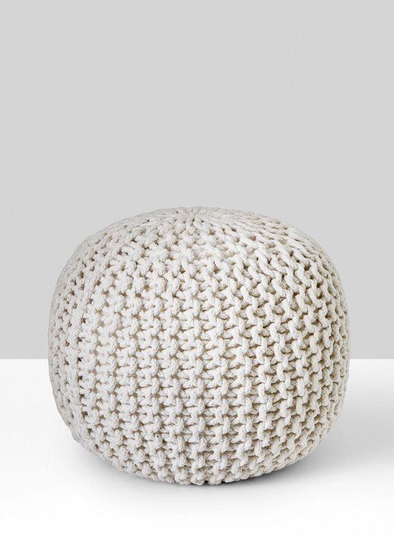 White Cool Pouf   Floor pouf, Floor pillows and Pillows