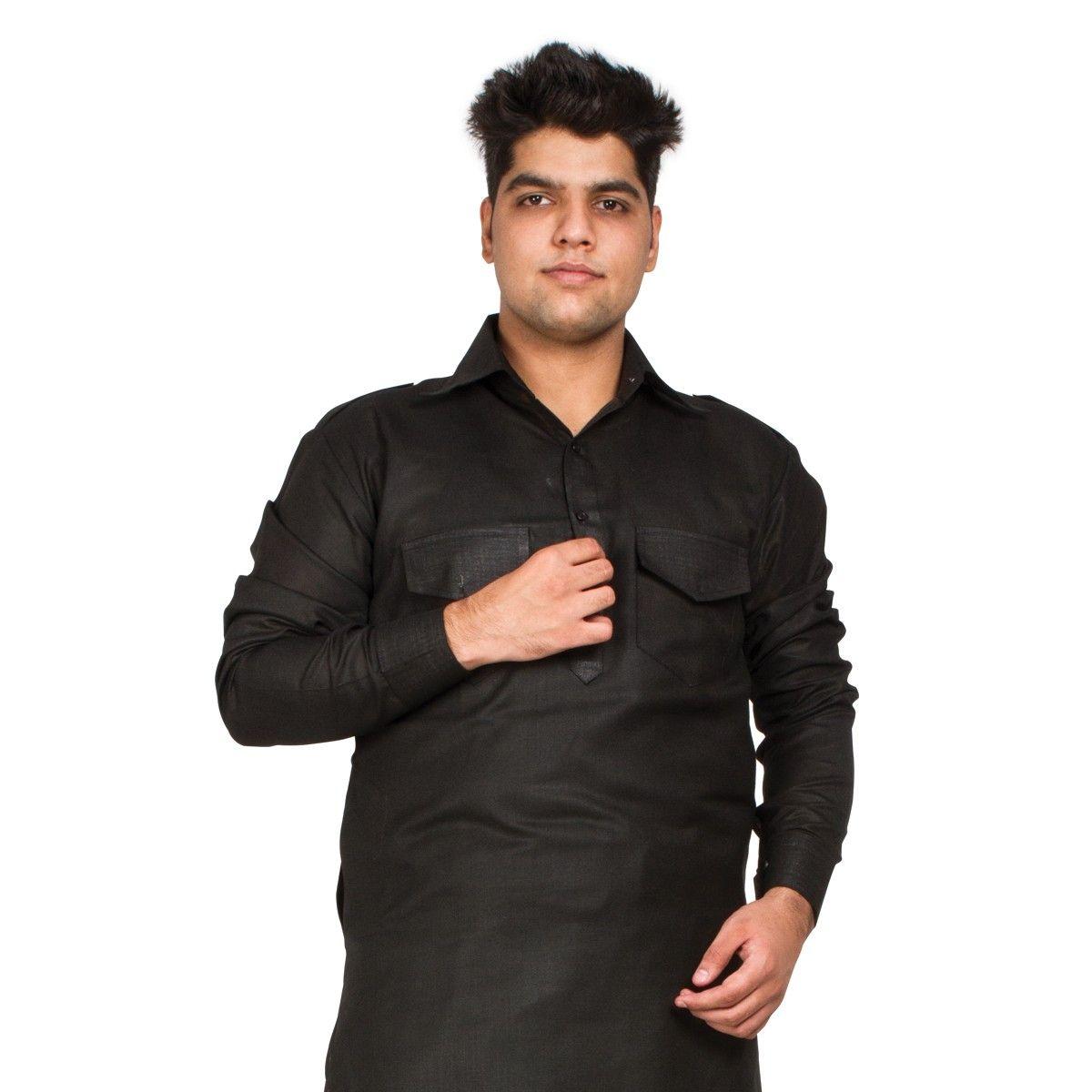 Buy Black Color Men Kurta Pajama Online For Men.Get Latest Designer ...