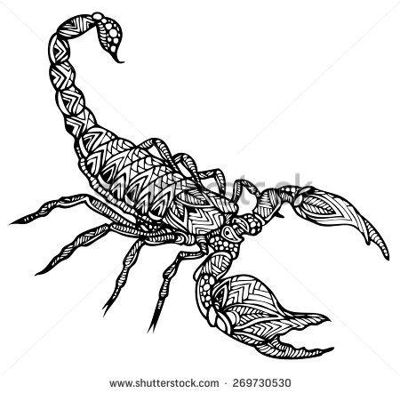 Zentangle Vector Scorpion Tatoos Alacran Dibujo